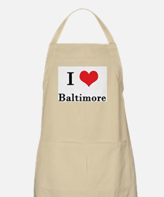 I Love Baltimore BBQ Apron