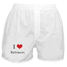I Love Baltimore Boxer Shorts