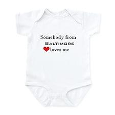 Somebody from Baltimore Loves Me Infant Bodysuit