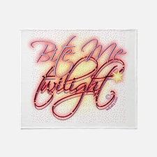 Twilight Bite Me Elegant Throw Blanket