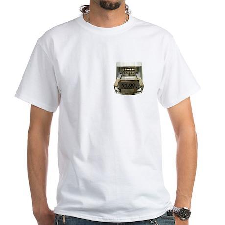 Push Coin Slot White T-Shirt