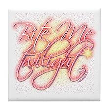 Bite Me Twilight Dark Elegance Tile Coaster