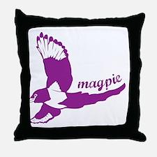 mag-pie Throw Pillow
