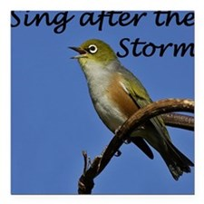 "sing after Square Car Magnet 3"" x 3"""