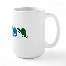 DinosGreensBlue Mug