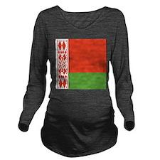 Belarus Flag Long Sleeve Maternity T-Shirt