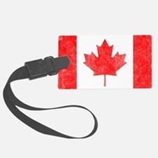 Canada Flag White Luggage Tag