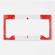 Canada Flag White License Plate Holder