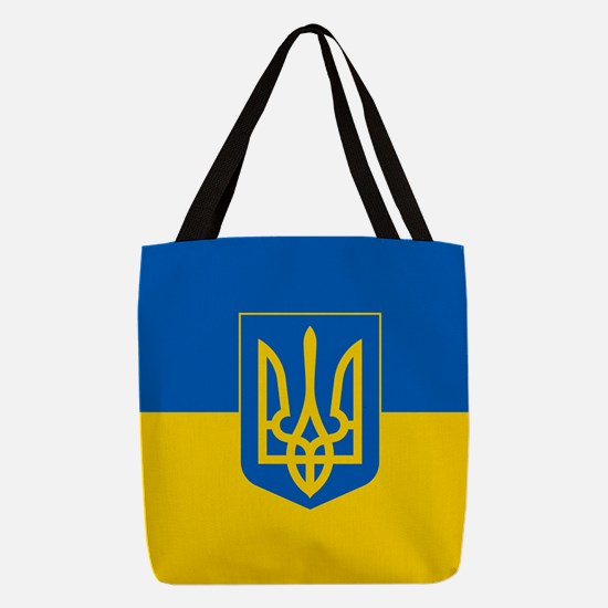 Ukrainian Flag Polyester Tote Bag