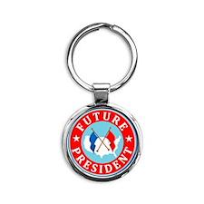 Future-President_Flattended Round Keychain