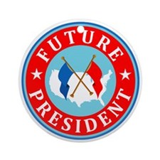 Future-President_Flattended Round Ornament