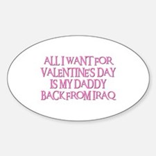 DADDY BACK Oval Decal