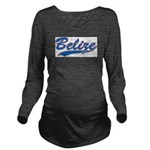 Retro Belize Long Sleeve Maternity T-Shirt