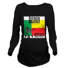 Benin Rocks Long Sleeve Maternity T-Shirt