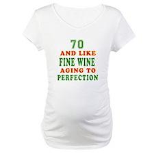 Funny 70 And Like Fine Wine Birthday Shirt