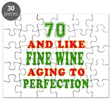Funny 70 And Like Fine Wine Birthday Puzzle