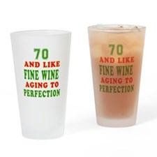 Funny 70 And Like Fine Wine Birthday Drinking Glas