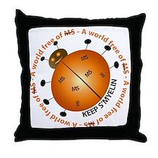 10x10_MSsmile2 Throw Pillow
