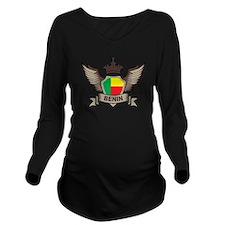 Benin Emblem Long Sleeve Maternity T-Shirt