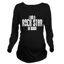 Rock Star In Benin Long Sleeve Maternity T-Shirt