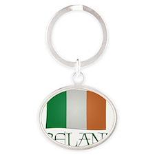 Irish-flag-Ireland Oval Keychain