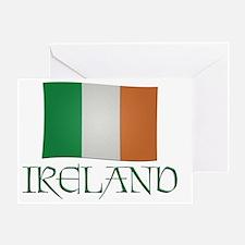 Irish-flag-Ireland Greeting Card