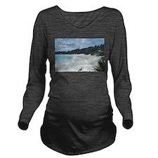 Bermuda Beach Long Sleeve Maternity T-Shirt