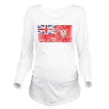 Vintage Bermuda Flag Long Sleeve Maternity T-Shirt
