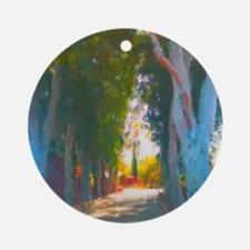 Eucalyptus Drive Round Ornament