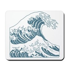 great_wave_blue_10x10 Mousepad