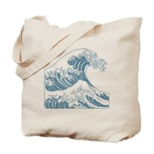 great_wave_blue_10x10 Tote Bag