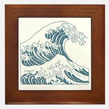 great_wave_blue_10x10 Framed Tile