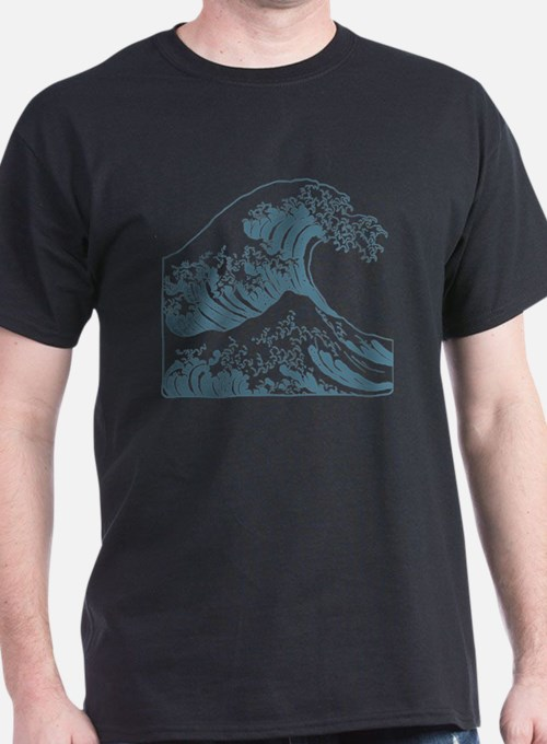 great_wave_blue_10x10 T-Shirt