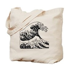 great_wave_black_10x10 Tote Bag