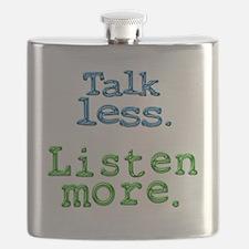 Talk Less Listen More - blk Flask