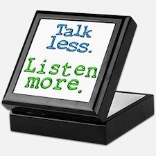Talk Less Listen More - blk Keepsake Box