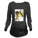 3D Brunei Long Sleeve Maternity T-Shirt