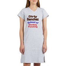 2-Dirty Sanchez transparent Women's Nightshirt