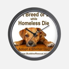 dont_breed_or_buy_puppy_1a-trans Wall Clock