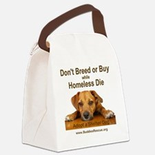 dont_breed_or_buy_puppy_1a-trans Canvas Lunch Bag