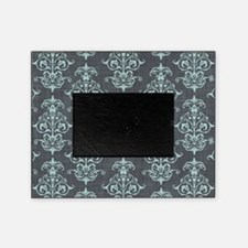 Gorgeous Pastel Blue on Gray Damask Picture Frame