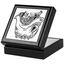 hell mouth and devil chained Keepsake Box