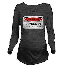 Attitude Cambodian Long Sleeve Maternity T-Shirt