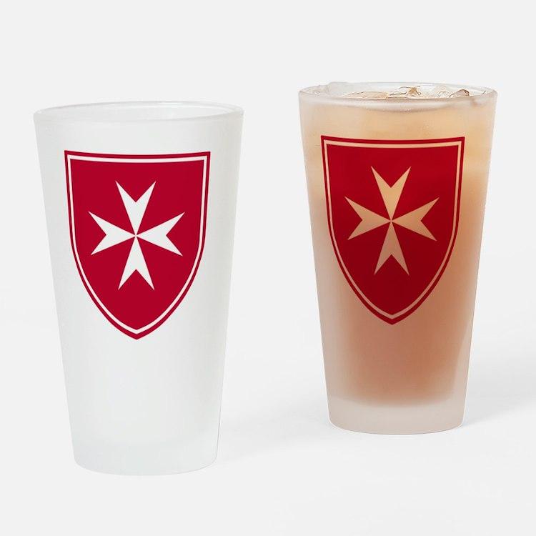 Cross of Malta - Red Shield Drinking Glass
