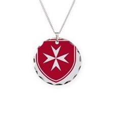Cross of Malta - Red Shield Necklace