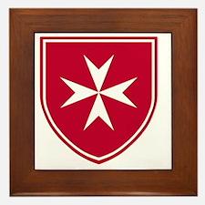 Cross of Malta - Red Shield Framed Tile