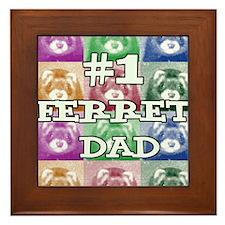 ferret dad Framed Tile