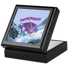 FrogOnLogZipperheadPurple Keepsake Box