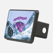FrogOnLogZipperheadPurple Hitch Cover