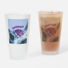FrogOnLogZipperheadPurple Drinking Glass